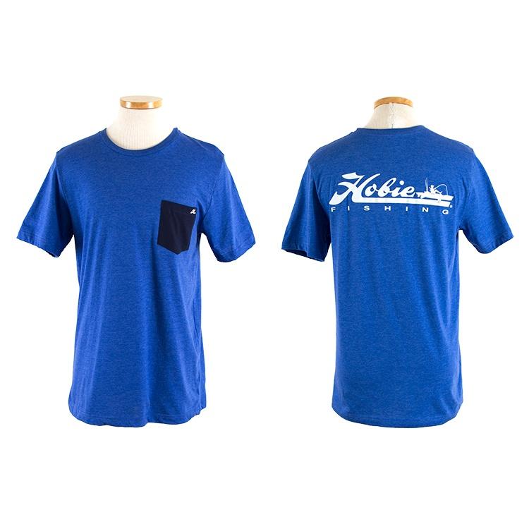 FISHING R BLUE/WHT S/S L